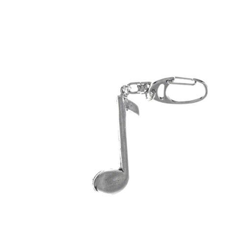 Pewter Keyring Music Themed Flute Inc Drums Trumpet Saxophone Violin