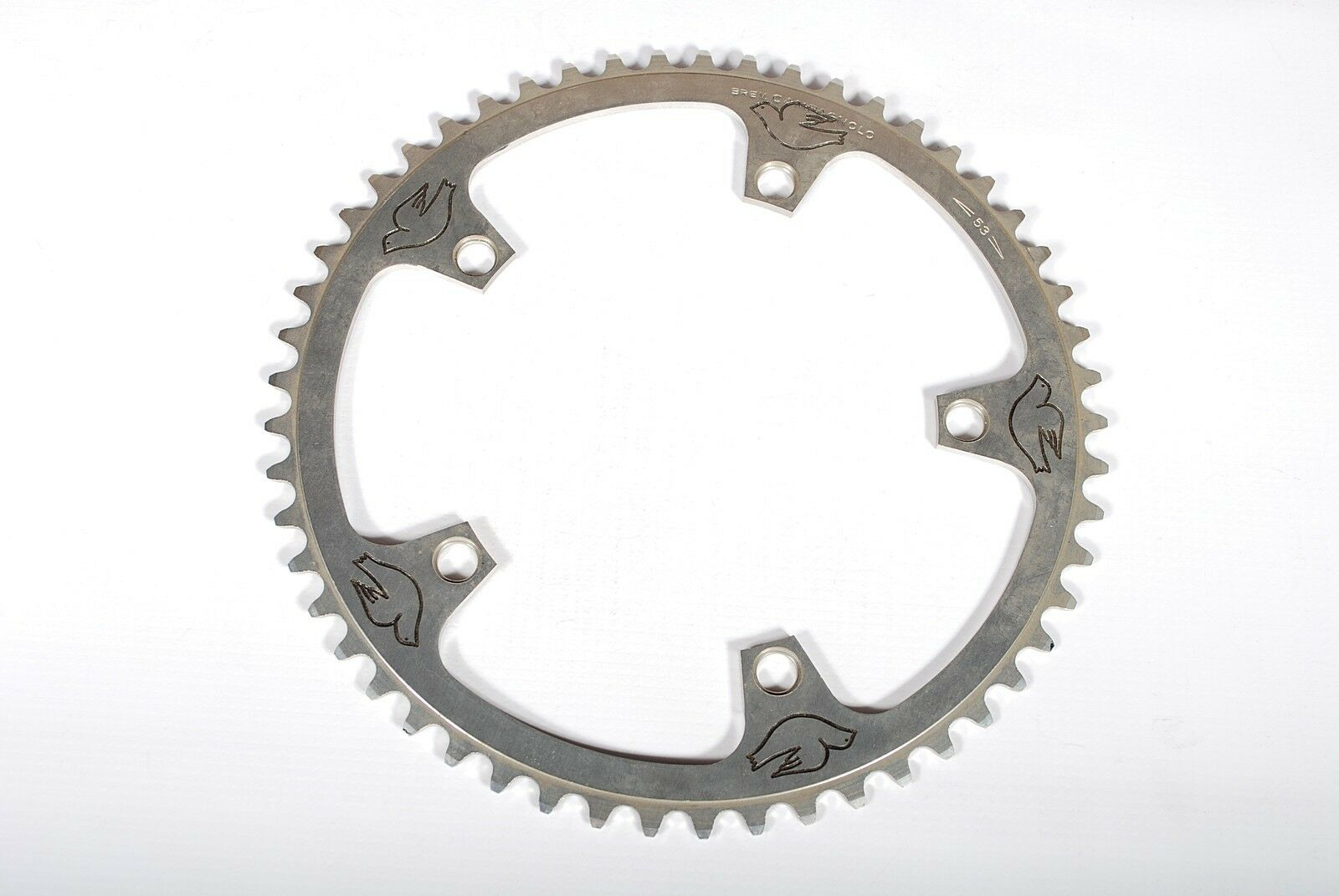 Campagnolo Super Record  Bicycle Chainring 144BCD Columbus Logo Pantographed 53T  stadium giveaways