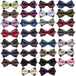 Factory Lot Adjustable Men Bow Tie Silk  DiamondPreTied Evening Work Man Ties