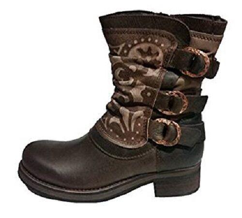 Felmini Damas Mixico Brown botas de cuero Premium