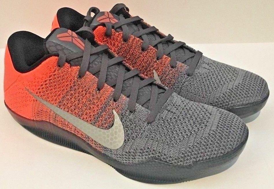 Nike Kobe Bryant 11 Elite Low Easter Gray/Mango Size 12 ( 822675-078 )