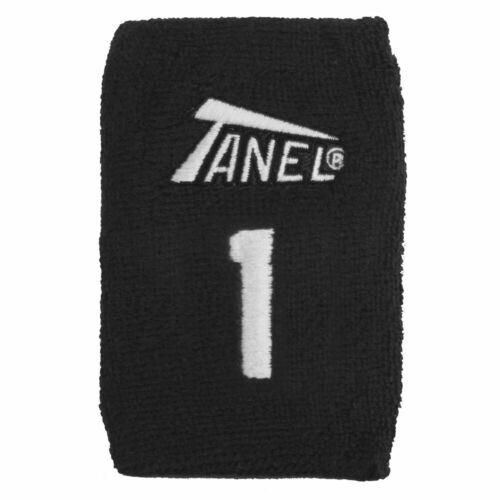 #1 Tanel 360 Custom Baseball//Softball Wristbands Black
