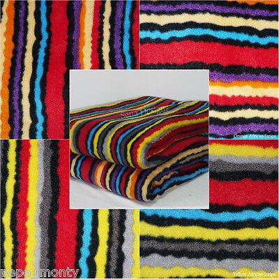 Polar fleece anti pill fabric Premium Quality soft material African Stripe Q1300