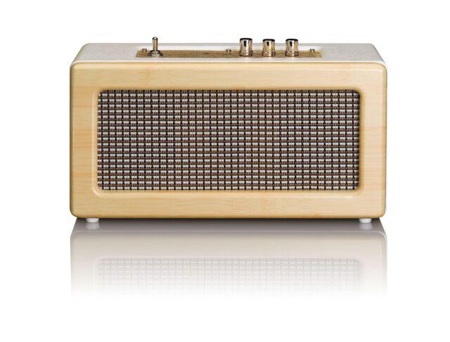 tragbarer LENCO BT 300 OAK Bluetooth Lautsprecher Musikbox FM Radio Speaker