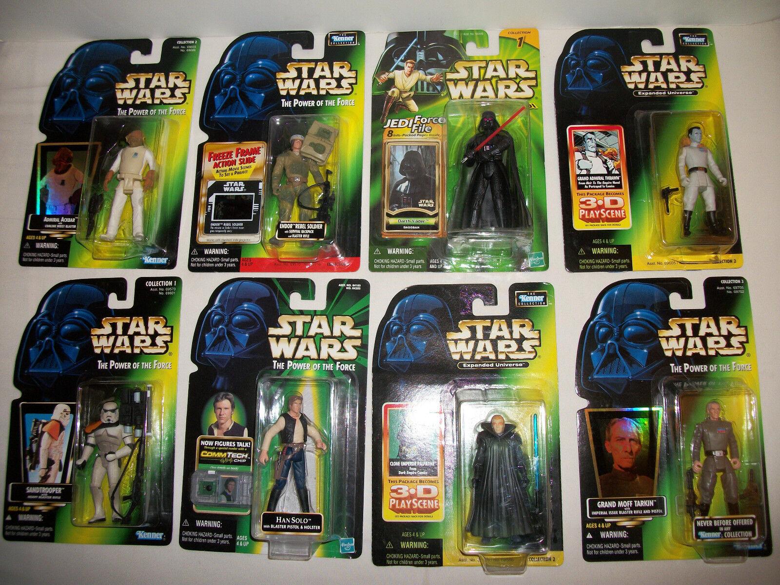 Star - wars - abbildung neue original trilogie potf gemischte menge versiegelt x8 geschenk spielzeug   2
