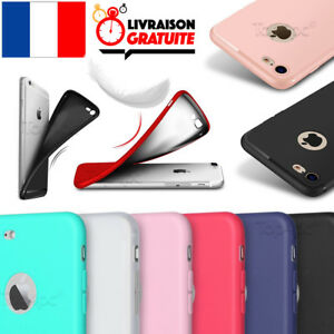 COQUE-HOUSSE-ETUI-ULTRA-FINE-POUR-IPHONE-6-5-7-8-X-PROTECTION-SILICONE-SOUPLE