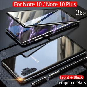 Para-Samsung-Galaxy-Note-10-Plus-360-Funda-Protectora-Magnetica-Vidrio-completo-de-adsorcion