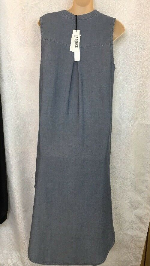 L'agence Shirt Dress Mgoldcco Mgoldcco Mgoldcco sleeveless bluee high low NWT SizeXs 2cefc2