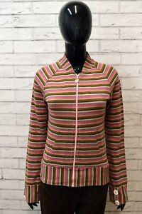 Maglione-Donna-DIESEL-Taglia-S-Felpa-Cardigan-Pullover-Sweater-Cotone-A-Righe