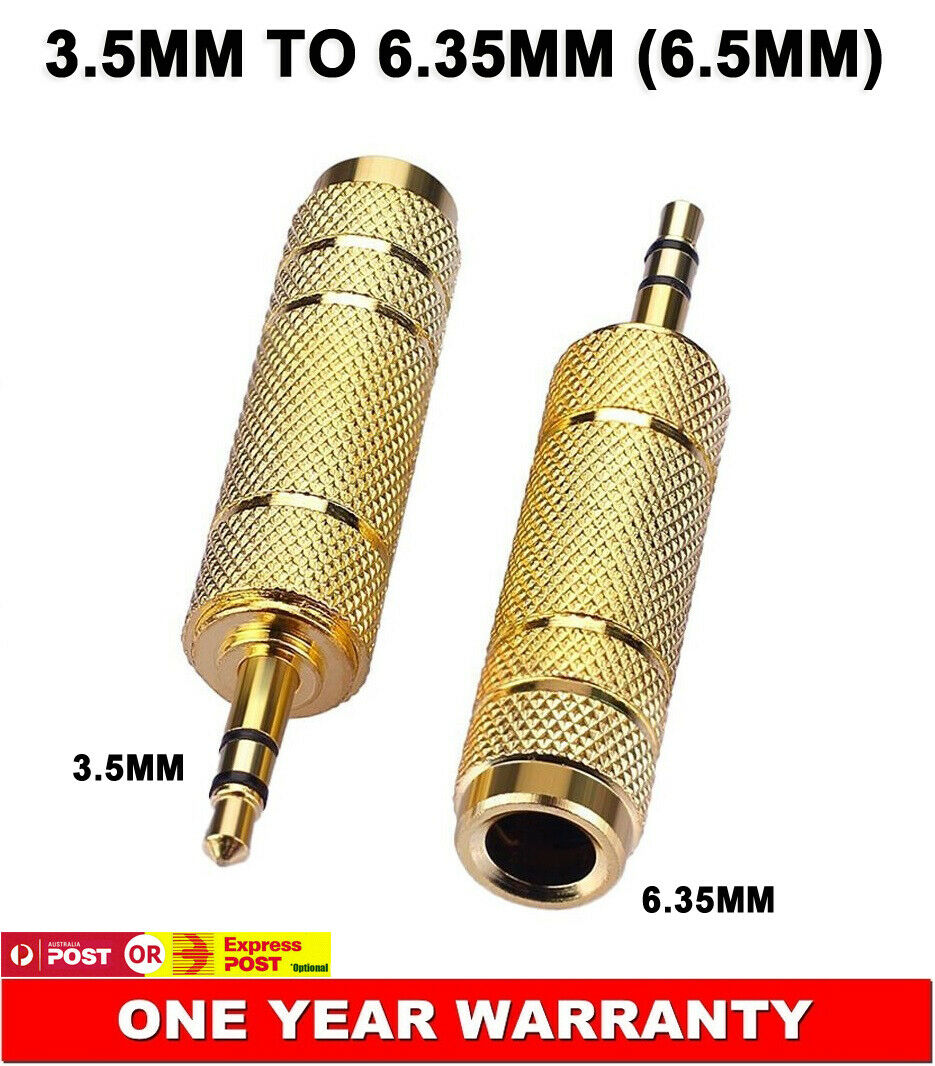 6.35mm (6.5mm) Female 3.5mm Male Stereo Audio Plug Converter Connector Adapter