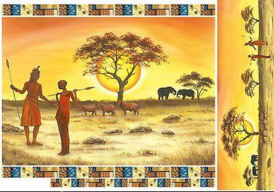 Papier de riz DFS136 Afrique Savane Rice Decoupage Paper Africa Savanna Serviett