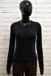 Maglia-GAS-Donna-Taglia-Size-XS-Maglietta-Shirt-Woman-Manica-Lunga-Slim-Fit-Nero