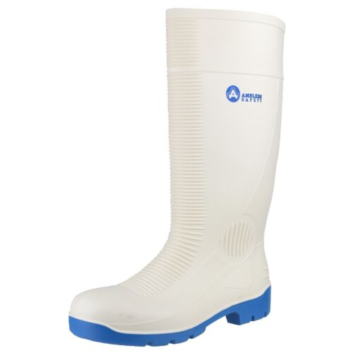 Amblers FS98 Safety Mens Wellingtons White Food Catering S4 Steel Toe Cap Boots