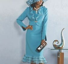 Ladies Ashro Karee Dress and Jacket In Blues Mother of Bride Special Size 16