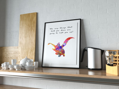Dumbo Quote Poster Print Watercolor Art Artwall Home décor