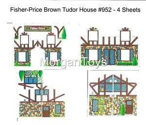 FISHER-PRICE-REPLACEMENT-LITHOS-952-BROWN-HOUSE-Little-People-Play-Family