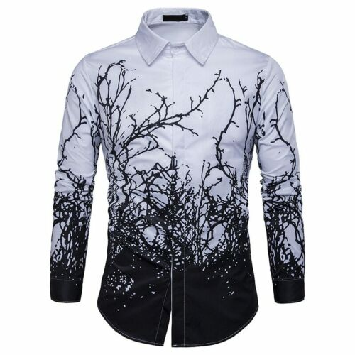 2019 Camisa de impresión de lujo para hombre negro blanco manga Camisa XXX48