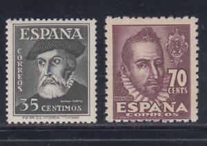 ESPANA-1948-NUEVO-SIN-FIJASELLOS-MNH-EDIFIL-1035-36-PERSONAJES-LOTE-1