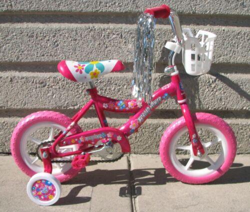 "NEW 12/"" GIRLS BIKE PINK EVA TIRES TRAINING WHEELS 3 TO 5 YEARS OLD KIDS!"
