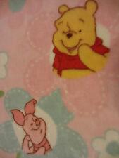 Disney Baby Winnie Pooh Piglet Pink Soft Plush Blanket Throw Child Toddler 30x45