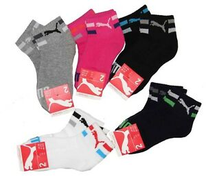 2-98-Unit-KIDS-SNEAKERS-SOCKS-PUMA-PACK-OF-2-TERRYCLOTH-SOLE