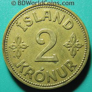 1940-ICELAND-2-KRONUR-XF-DETAILS-ISLAND-WORLD-COIN-ALUMINUM-BRONZE-9-4gr-28mm