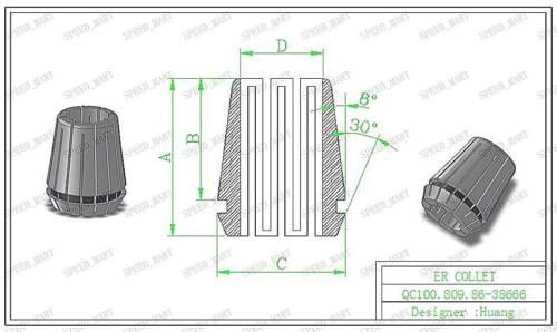 11mm ER20 Spring Collet Chuck Tool Bit Holder For CNC Milling Lathe Chuck NEW