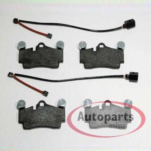 Bremsbeläge Klötze mit 2 Sensoren Verschleißwarner hinten Hinterachse Audi Q7