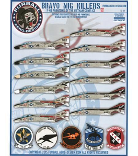 Furball Aero-Design 1/72 decals Bravo MIG Killers F-4B Phantoms 72-001