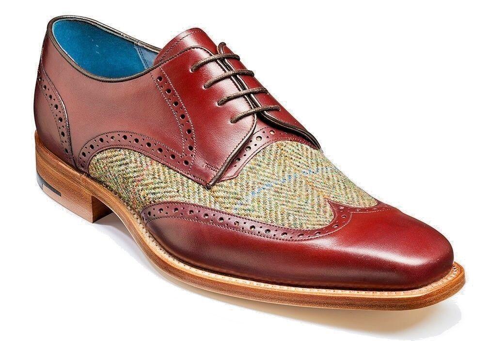 MENS shoes EN CUIR FAIT À LA MAIN BEIGE   BOURGOGNE shoes FORMES À DEU