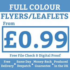 A5 Flyers Leaflets Printed Full Colour 170gsm Silk A5 Flyer Printing from 99p