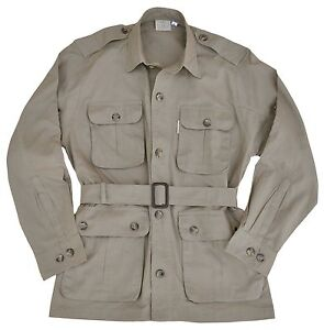 Safari-Jacket-Mens-Khaki-Sizes-S-thru-3XL