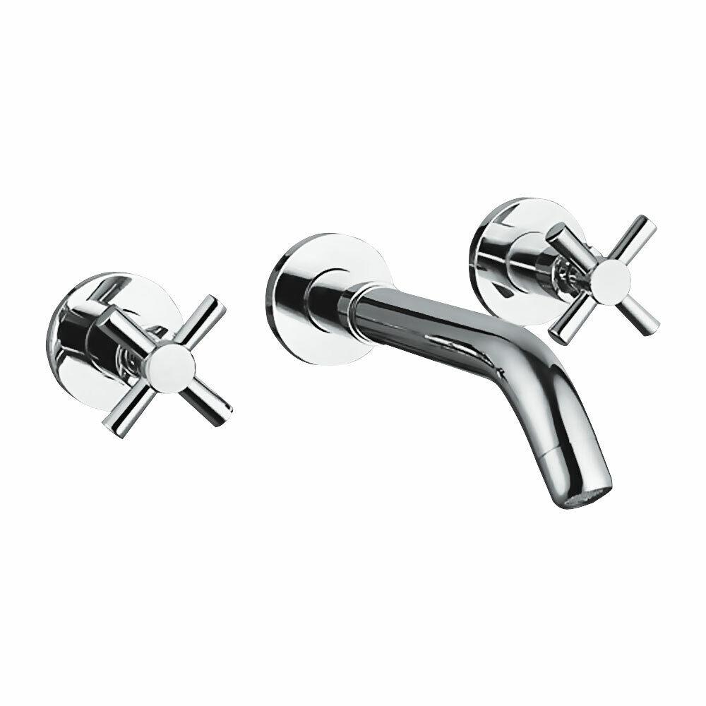 Design 3hole Croix Tête dissimulé robinet lavabo sanlingo chrome brillant