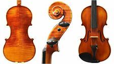 4/4 FULL SIZE VIOLIN, ANTIQUE VARNISH, DOMINANT STRINGS, ADVANCED