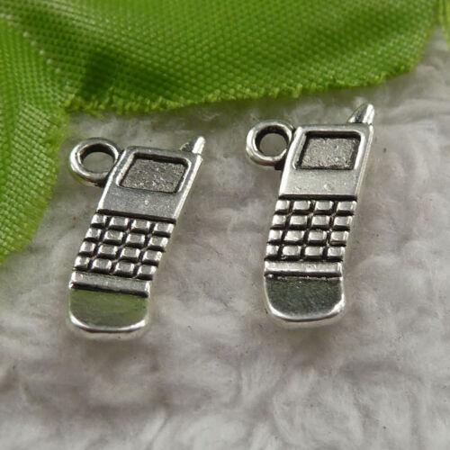 free ship 168 pcs tibet silver handset charms 19x10mm #4240