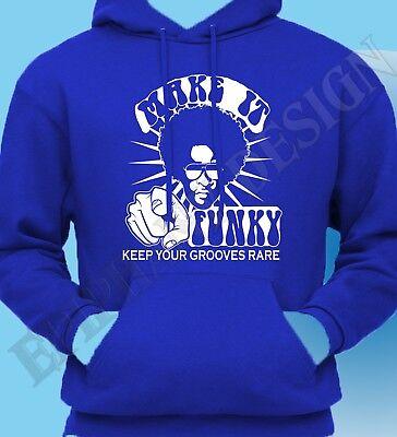 Funk T-Shirt Soul Jazz Funky 70/'s Rare Groove Fusion Mens Hoodie Hoody Funk 80s