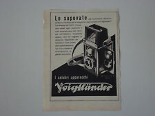 advertising Pubblicità 1942 MACCHINA FOTOGRAFICA VOIGTLANDER BRILLANT V 6