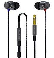 Soundmagic E10 Gunmetal & Black Noise Isolating In-ear Headphone Earphone Earbud