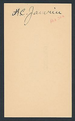 1911 Red Sox HAL JANVRIN Baseball Autograph (Died 1962)