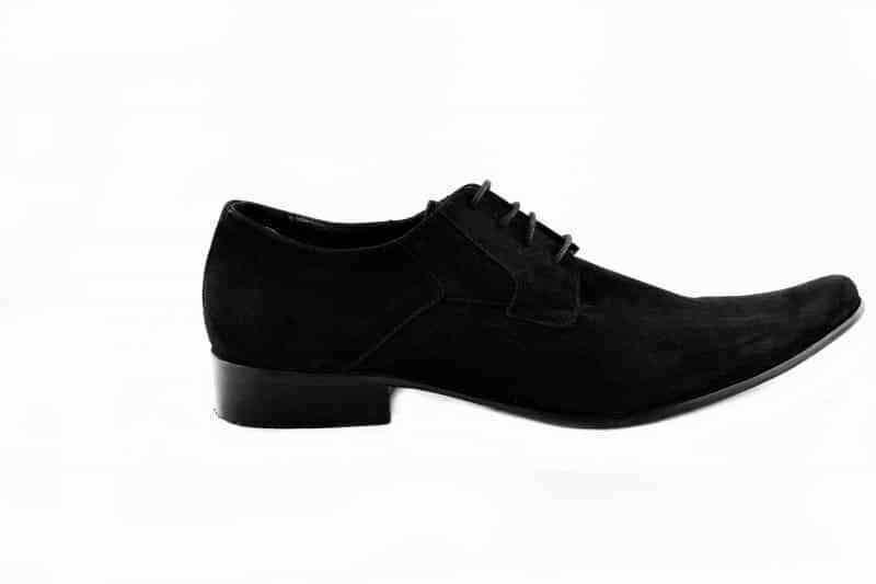Paolo Vandini Black Suede Men'S Winklepicker Lace Up Shoes Pointed Formal