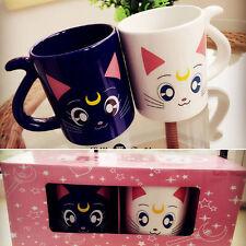 100% Authentic Sailor Moon set Crystal 20th Anniversary Coffee Couple Mug Cup