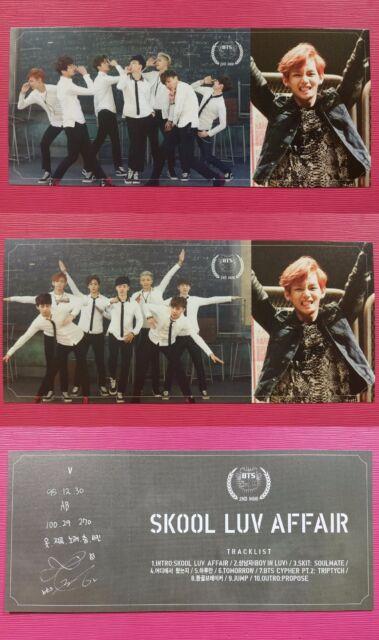 BTS V TAEHYUNG 2 pcs Official Photo Card 2nd Album Skool Luv Affair Photocard
