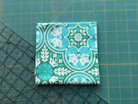 Patchwork/Quilting/Craft, Fabric, Green, Turquoise, blue floral, 100% cotton
