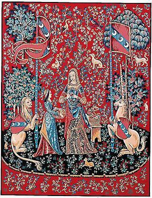 Margot de París tapestry//needlepoint Lona Lady con la Unicorn/' I/' ouïe