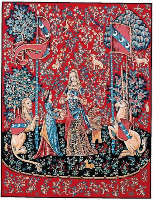 "Lady and the Unicorn /""taste/"" Margot de Paris Tapestry//Needlepoint Canvas"