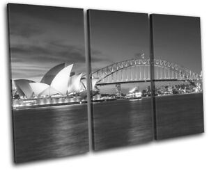 Sydney-Skyline-Harbour-Opera-House-City-TREBLE-CANVAS-WALL-ART-Picture-Print