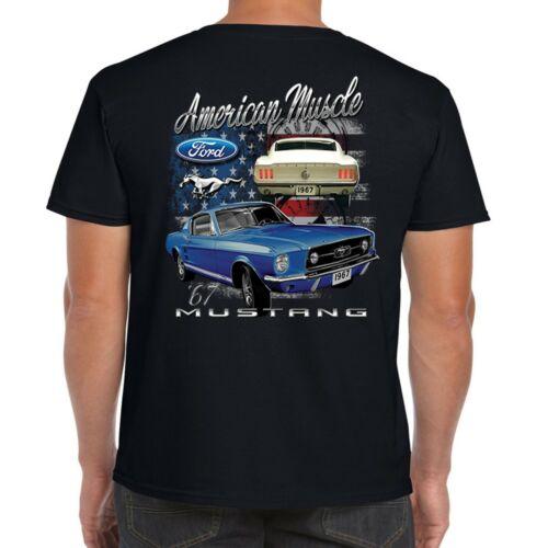 Mens Ford Mustang T Shirt American logo Vintage AmericanV8 Muscle Car Clothing