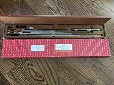 Starrett No124cz Inside Micrometer Set 8 32 Range Free Ship Made In Usa
