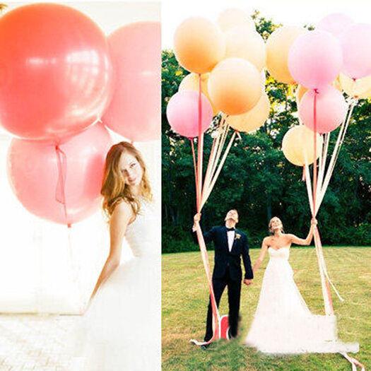 90CM Giant Big Ballon Latex Birthday Wedding Party Decoration Home Outdoor Decor