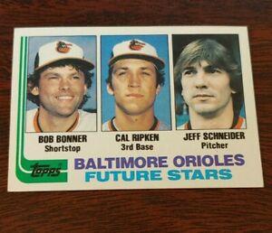 1982 Topps Cal Ripken Jr. Rookie baseball card Baltimore Orioles #21 Near mint